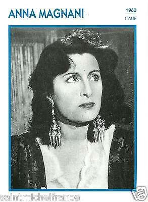 ANNA MAGNANI ACTRICE ACTRESS FICHE CINEMA ITALIE ITALY  90s