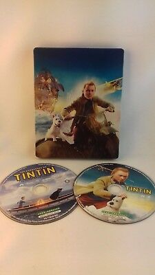 DVD + blu ray Tintin le secret de la licorne édition Steelbook
