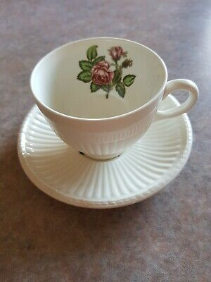 Wedgewood Moss Rose Cup and Saucer