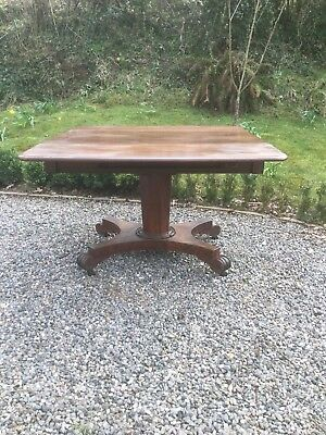 Antique Mahogany Drop Flap Sofa / Console Table Sn-P