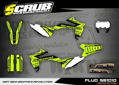 SHERCO graphics SE 250 300 450 2013 - 2016 stickers '13-'16 SCRUB decals kit