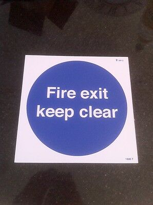 Fire Exit Keep Clear Sign 200 x 200