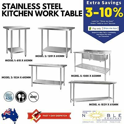 #430 Stainless Steel Kitchen Work Bench Prep Table Restaurant Commercial Food