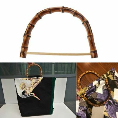 Nature Bamboo Bag Handle Handcrafted Bag Accessories Wooden Cane Purse Frame