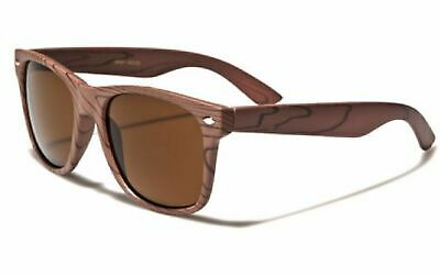 Faux Rose Wood Frame (looks real) Retro Style Sunglasses (Wood, Gold)
