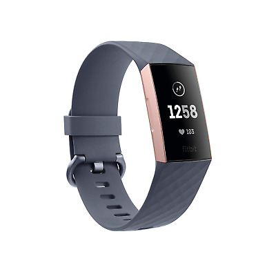 Fitbit Charge 3 Gesundheits- und Fitness-Tracker blaugrau/rosegold