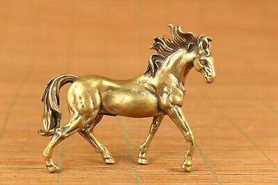 Lucky Rare Chinese Antiques rare old bronze horse figure statue hand piece