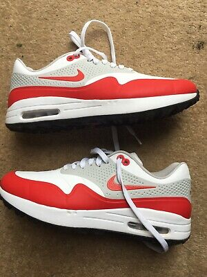 be1eacd50 Nike Air Max 1 G White University Red 2019 Golf Shoe - Mens Spikeless Air  Max