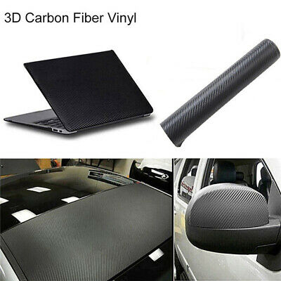 New 3D Waterproof Carbon Fiber Vinyl Car Wrap Sheet Roll Film Sticker Decal