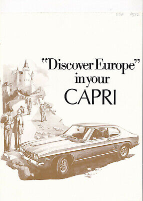 "Lincoln-Mercury Division Ford, ""discover Europe"" In Your Capri Brochure."