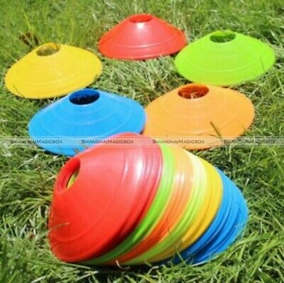 10pcs Football Rugby Sport Cross Training Space Marker Soccer Disc Cone Saucer