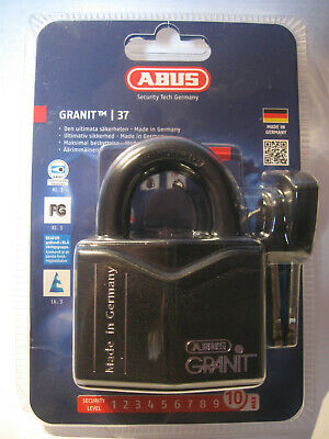 ABUS GRANIT 37/55 padlock, security 10/10, free tracked delivery worldwide