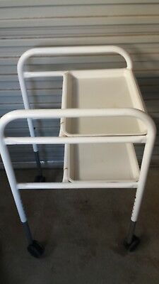 White Hospital Bed Table