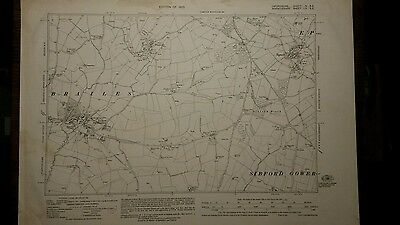 Original Ordnance Survey 6 inch - 1 mile map.Lower Brailes Winderton Epwell 1923