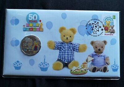 2016 Fifty Cent 50c 50 Years Play School PNC Coin Big and small Teddy