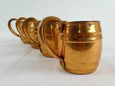 4 Old Canadian Copper Tankards Anaconda Copper Mined Refined & Rolled Canada