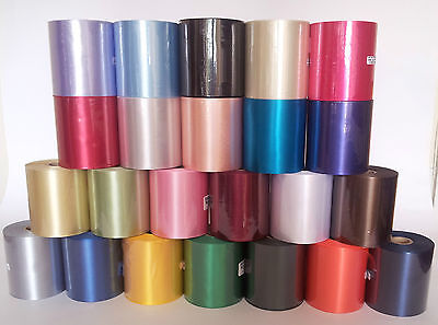 Polyester Ribbon 45mm OR 100mm  x 50m roll - Many colours! Make great bows!