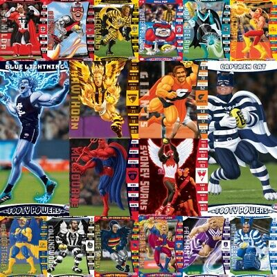 2019 Teamcoach Footy Powers 3D Trading Card Team Coach - You Pick