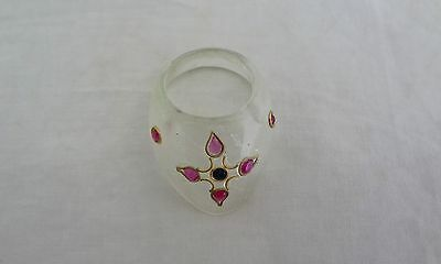 Indo Persian Mughal Vintage Rock Crystal Thumb Archer Ring for Archery