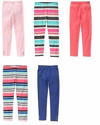 NWT New Various Gymboree Girls Leggings Sizes XS M L Coral, Striped, Pink, Blue