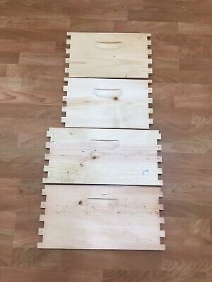 1 Unassembled 10 Frame Deep Bee Hive Langstroth honeybee beehive Box beekeeping
