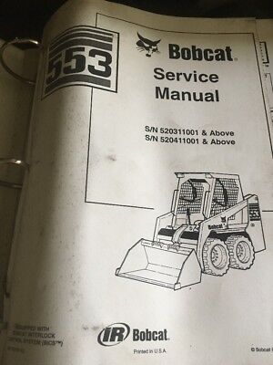 Bobcat 553 Skidsteer In-depth Workshop Service,repair Manual Book