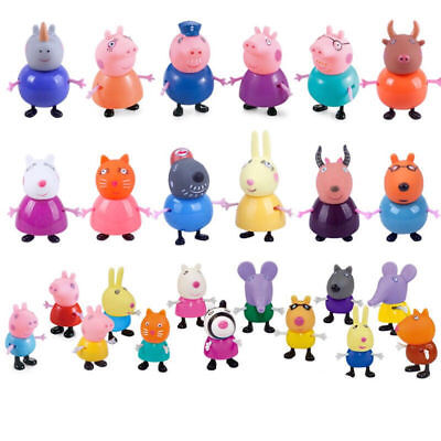 HOT gift 25 Pcs Peppa Pig Family&Friends Emily Rebecca Suzy Action Figures Toys
