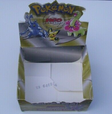 Pokemon Neo Genesis Empty Trading Card Display Box/packets No Cards