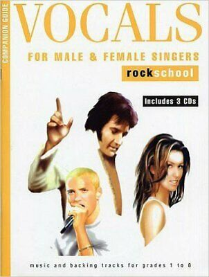 Rockschool Companion Guide - Vocals For Male And Female... Voice Sheet Music, CD