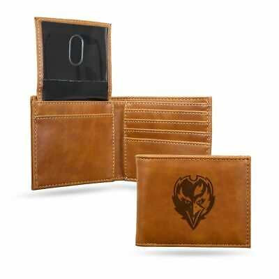 NEW SYNTHETIC LEATHER Graphic Logo Bi Fold Wallet NFL Baltimore  for sale
