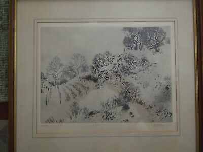 Peter Winslow Milton etching hand signed rare 1965 old