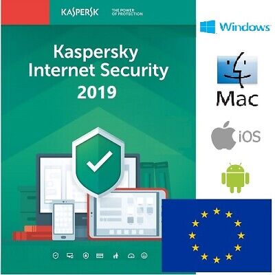 Kaspersky Internet Security 2019 1, 2, 3, 4, 5, 10 device 1 años 2 years oficial