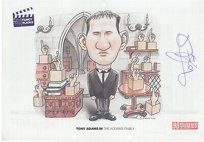 1994 calendar page signed by Tony Adams ~ in the Addams family