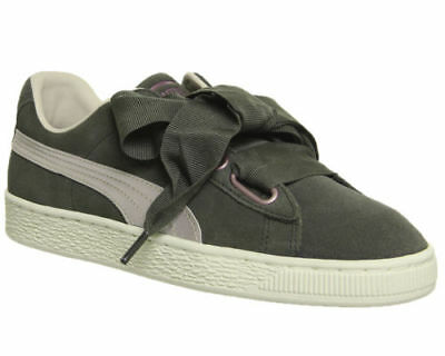 buy popular 999b0 7b5ab Femmes Puma Cuir Suédé Coeur Baskets Nuit D  ol Ivier Rose Tinte or Rose  Baskets