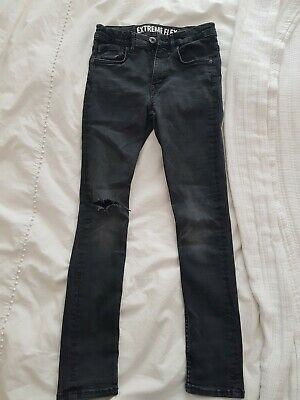 H & M Boys Extreme Flex Black Jeans 10-11 Years