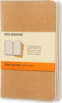Moleskine Ruled Cahier - Kraft Cover (3 Set) by Moleskine 9788883704925