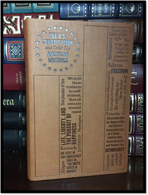 United States Constitution New Textured Soft Leather Feel Collectible Edition