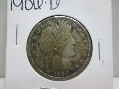 1906-D Us Barber Silver Half Dollar