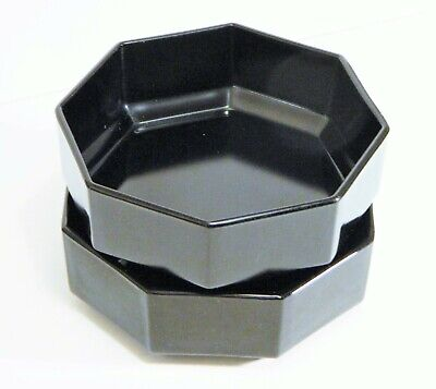 Arcoroc/France/Black/OCTIME/Gloss/Glass/Octagon/Soup/Salad/Cereal Bowl/ 2