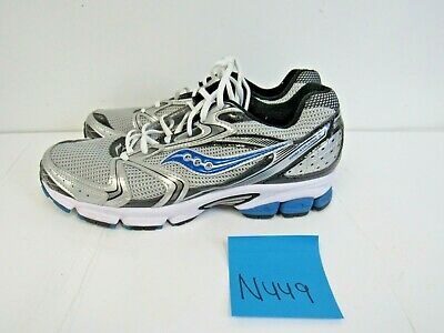 ee091489319d MENS SAUCONY GRID Stratos 5 Trainers Silver/Blue Size 7.5M (N469 ...