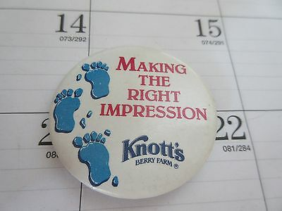 Knotts Berry Farm Employee Button 1990s Footprints Making The Right Impression