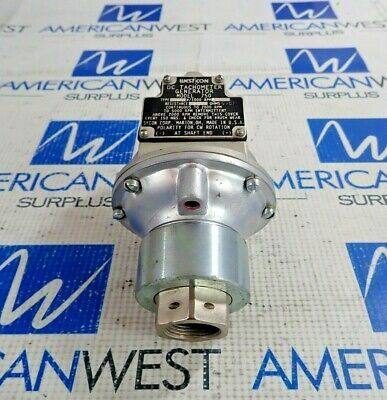 West Con Dc Tachometer Generator Model 750 Type K30