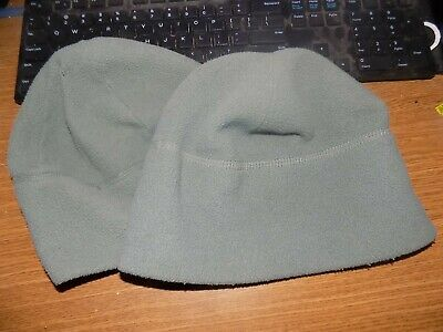 55a8513c440 pair (2)US ARMY ACU Polartec Fleece Watch Cap Hat GREEN Beanie COLD WEATHER