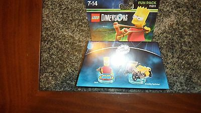 LEGO DIMENSIONS 71211 Fun Pack THE SIMPSONS BART GRAVITY SPRINTER SUPER SCONTO