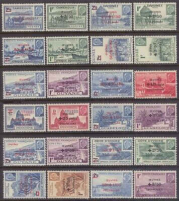 French Colonies - 44 Diff Colonial Development Fund - Mint Never Hinged Og **