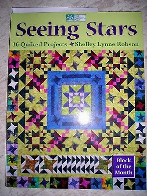 NEU  Seeing Stars  16 Quilted Projects  Shelles Lynne Robson Patchwork Quilt