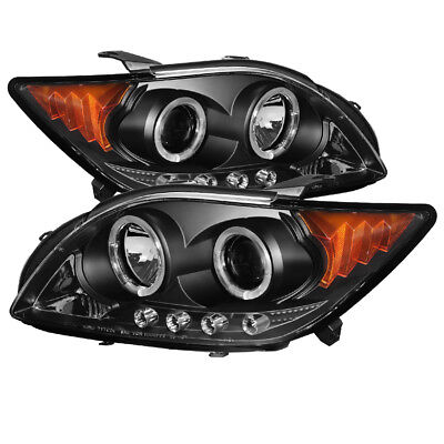Scion 08-10 TC Negro Dual Halo LED Proyector Faros Lámpara L+R Base / Spec