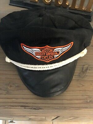 0fd47438a VINTAGE HARLEY DAVIDSON Captains Hat With AMA Pin Lot - $74.00 ...