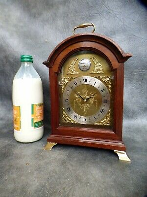 A Good Quality Mahogany Cased Garrard Bracket Clock * Serviced *
