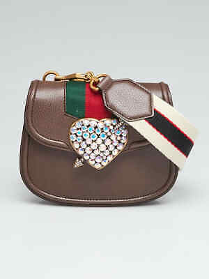 092695d9285d NWT GUCCI SMALL Totem Crystal Heart Crossbody Bag Orig.$1980 ...
